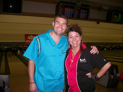 Mike Synovec & Kim Rowley in Bowling Shirts