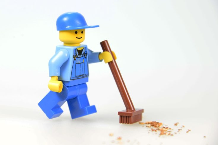 Cleaning Lego Man