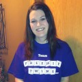 Kim wearing Team Preemie Twins tshirt.