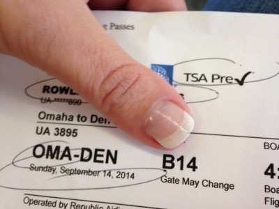 Airline Ticket with TSA PreCheck