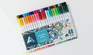 Fineline Pens Triangle-Shaped Drawing Pens for Adult Coloring Books
