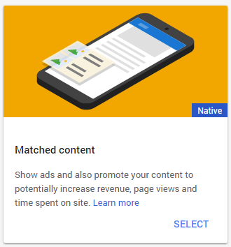 Google Matched Content